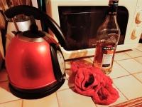 Culotte abandonnée dans la cuisine